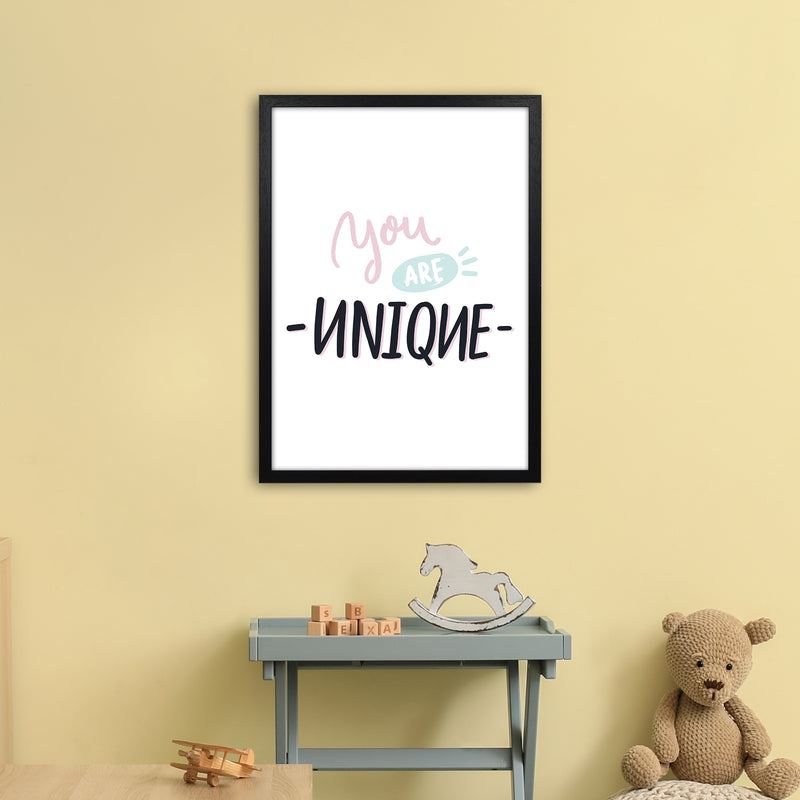 You Are Unique  Art Print by Pixy Paper A2 White Frame