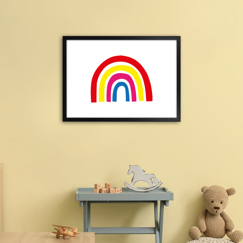 Rainbow Red  Art Print by Pixy Paper A2 White Frame