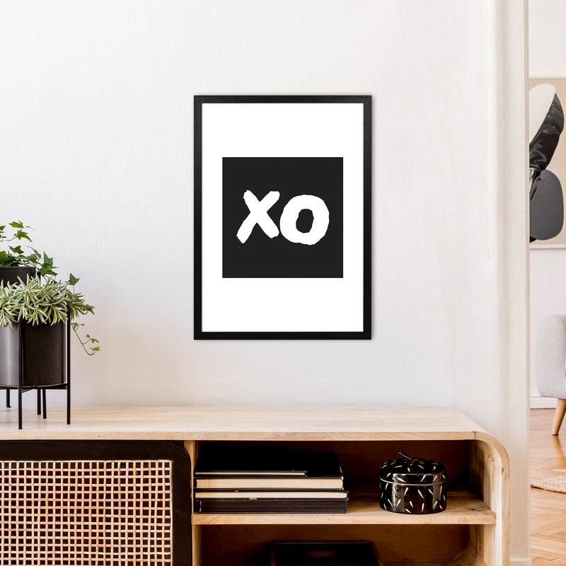 Xo Black Box  Art Print by Pixy Paper A2 White Frame