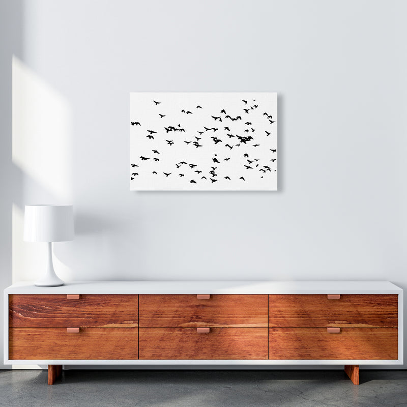 Flock Of Birds Landscape Art Print by Pixy Paper A2 Canvas
