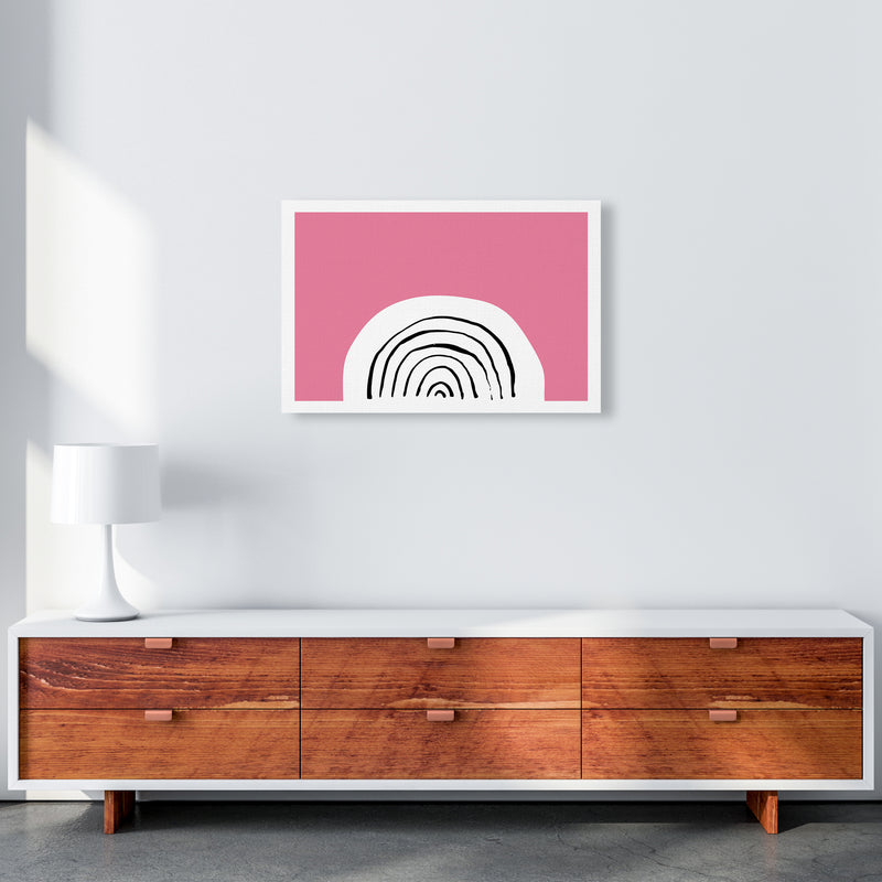 Pink Rainbow Neon Funk  Art Print by Pixy Paper A2 Canvas