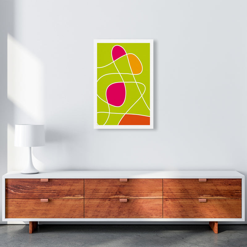 Lime Mess Neon Funk  Art Print by Pixy Paper A2 Canvas