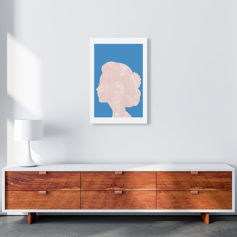Marble Head Blue  Art Print by Pixy Paper A2 Canvas