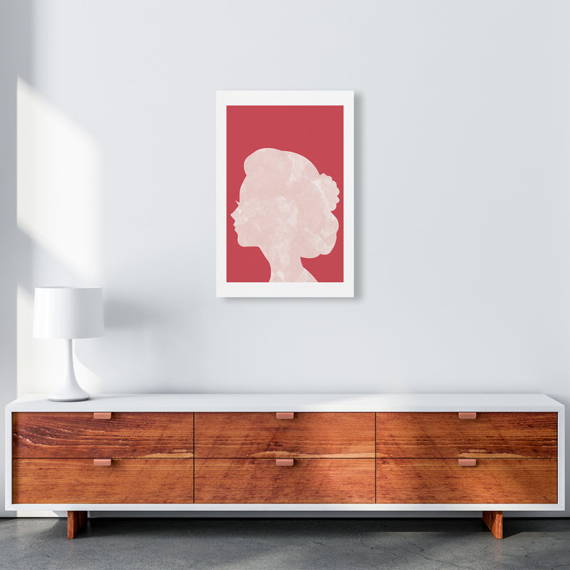 Marble Head Red  Art Print by Pixy Paper A2 Canvas