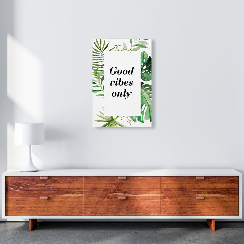 Good Vibes Only Exotic  Art Print by Pixy Paper A2 Canvas