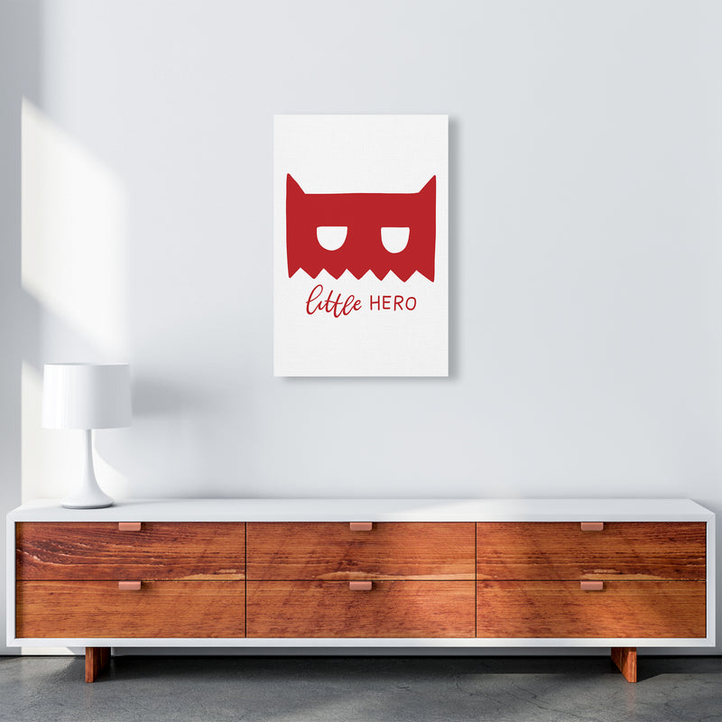 Little Hero Mask Red Super Scandi  Art Print by Pixy Paper A2 Canvas