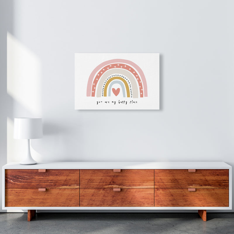 You Are My Happy Place Rainbow  Art Print by Pixy Paper A2 Canvas