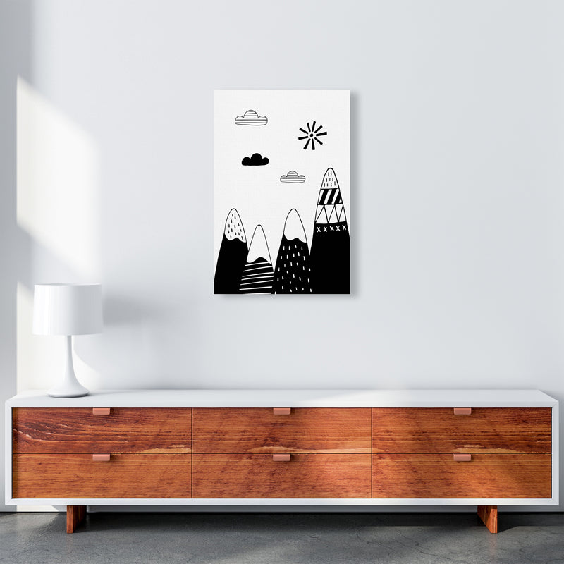 Scandinavian Mountains  Art Print by Pixy Paper A2 Canvas