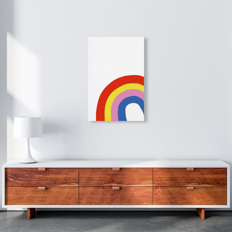Rainbow In Corner  Art Print by Pixy Paper A2 Canvas