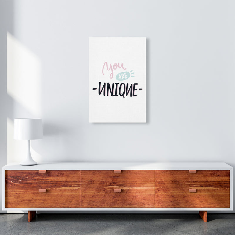 You Are Unique  Art Print by Pixy Paper A2 Canvas
