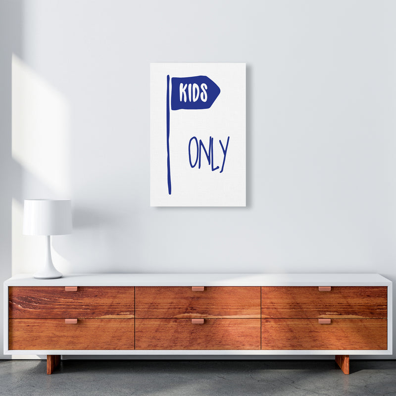 Kids Only Navy  Art Print by Pixy Paper A2 Canvas