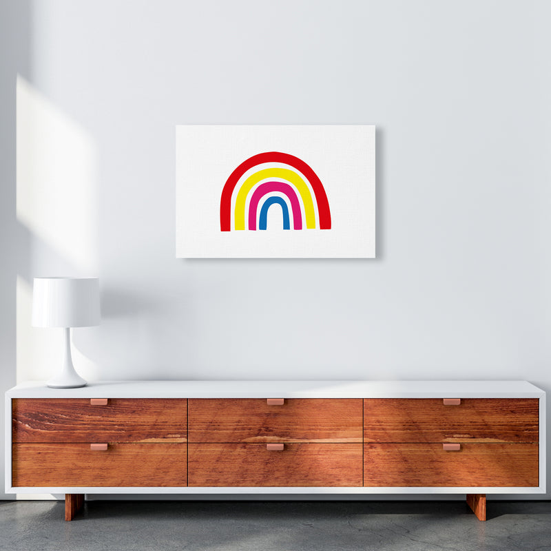 Rainbow Red  Art Print by Pixy Paper A2 Canvas
