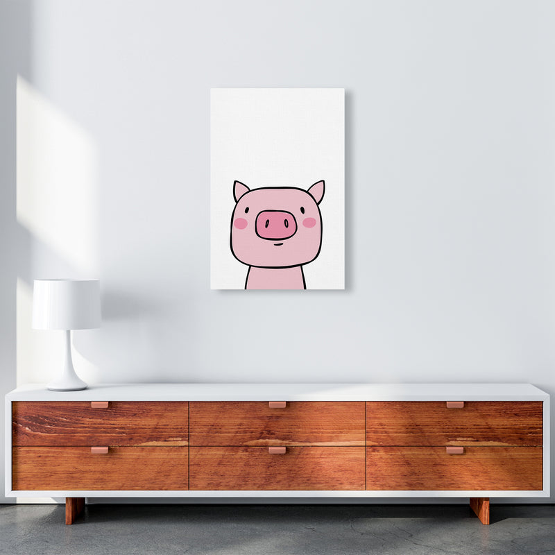 Pig  Art Print by Pixy Paper A2 Canvas
