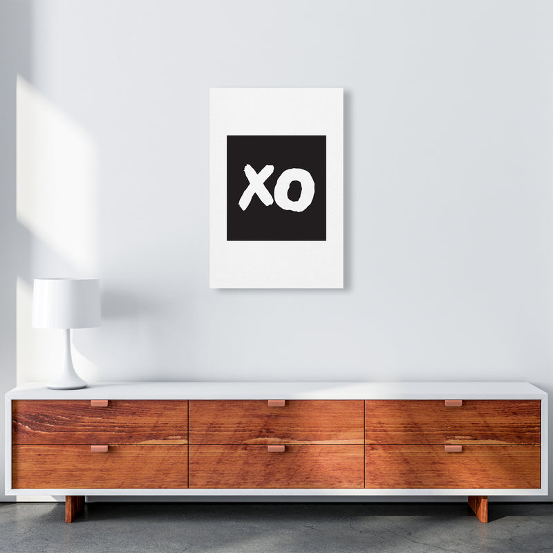 Xo Black Box  Art Print by Pixy Paper A2 Canvas