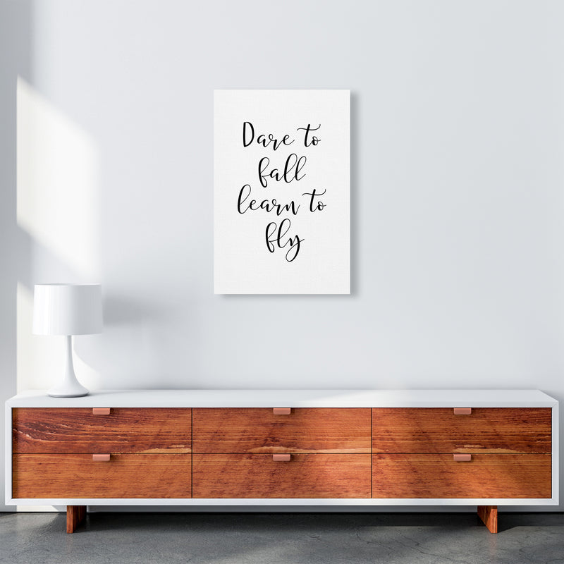 Dare To Fall  Art Print by Pixy Paper A2 Canvas