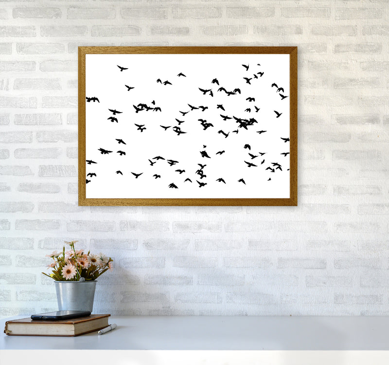 Flock Of Birds Landscape Art Print by Pixy Paper A2 Print Only