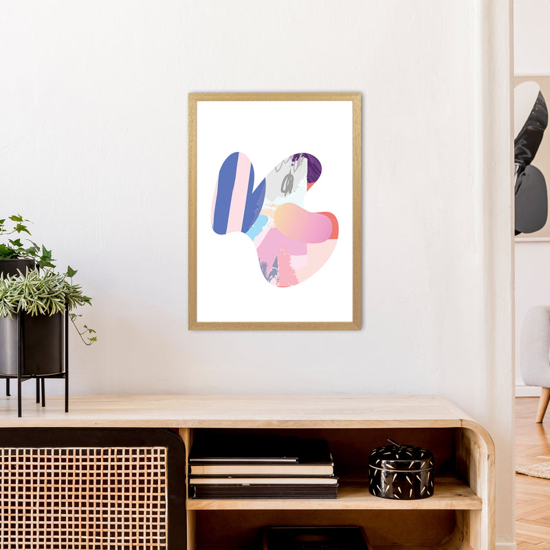Pink Butterfly Abstract Shape  Art Print by Pixy Paper A2 Print Only