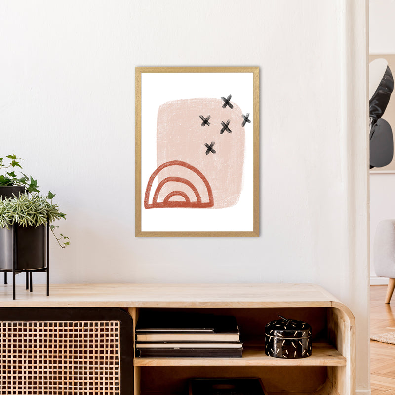 Dalia Chalk Red Rainbow  Art Print by Pixy Paper A2 Print Only