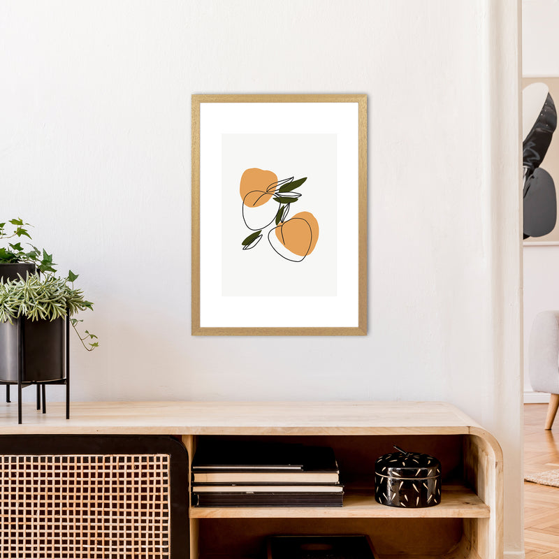 Mica Apricots N3  Art Print by Pixy Paper A2 Print Only