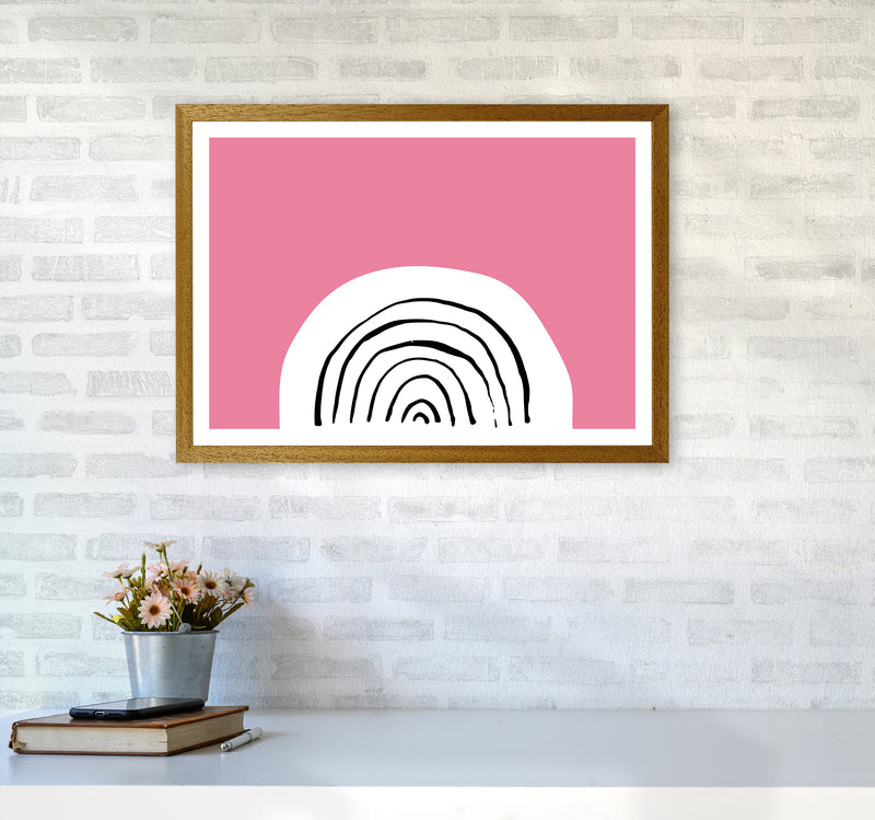 Pink Rainbow Neon Funk  Art Print by Pixy Paper A2 Print Only