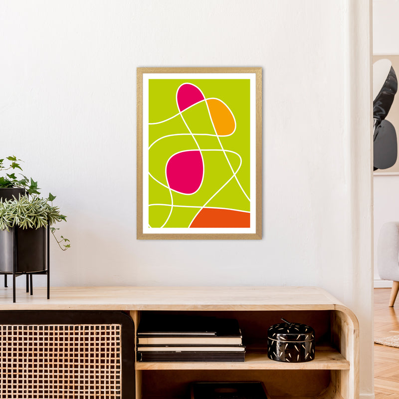 Lime Mess Neon Funk  Art Print by Pixy Paper A2 Print Only