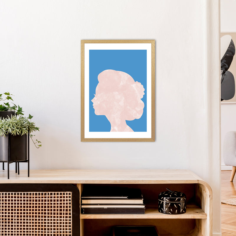 Marble Head Blue  Art Print by Pixy Paper A2 Print Only
