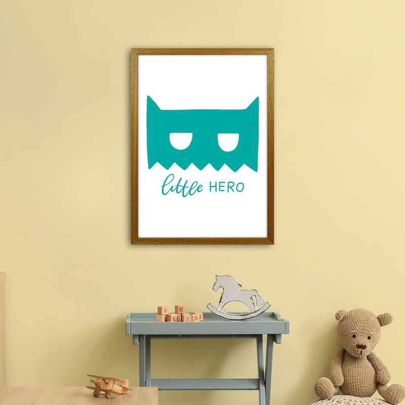 Little Hero Mask Teal Super Scandi  Art Print by Pixy Paper A2 Print Only