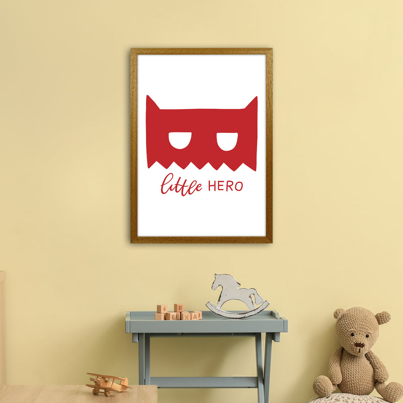 Little Hero Mask Red Super Scandi  Art Print by Pixy Paper A2 Print Only