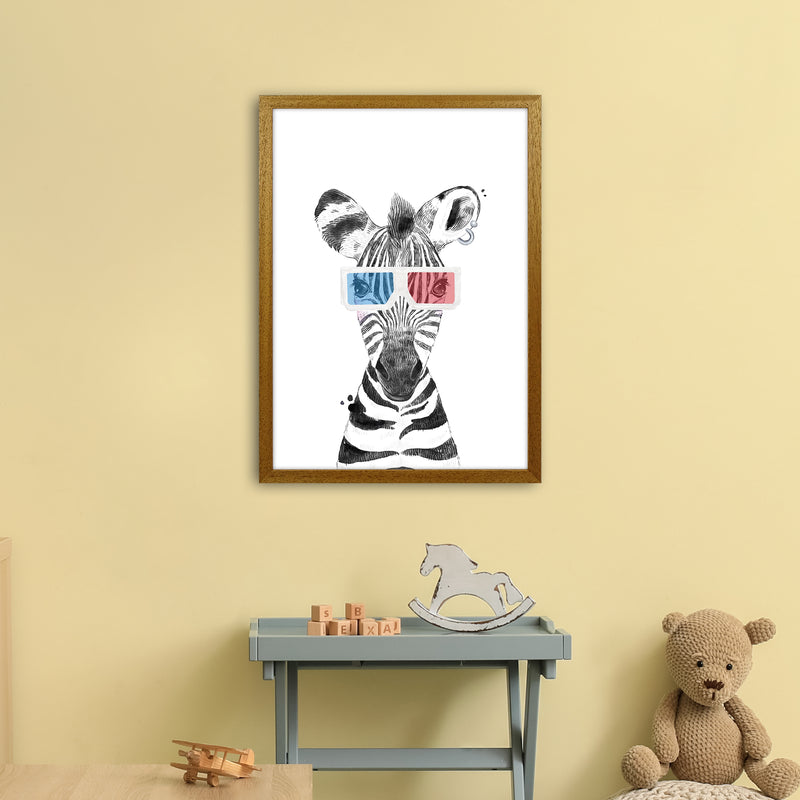 Safari Babies Zebra With Glasses  Art Print by Pixy Paper A2 Print Only
