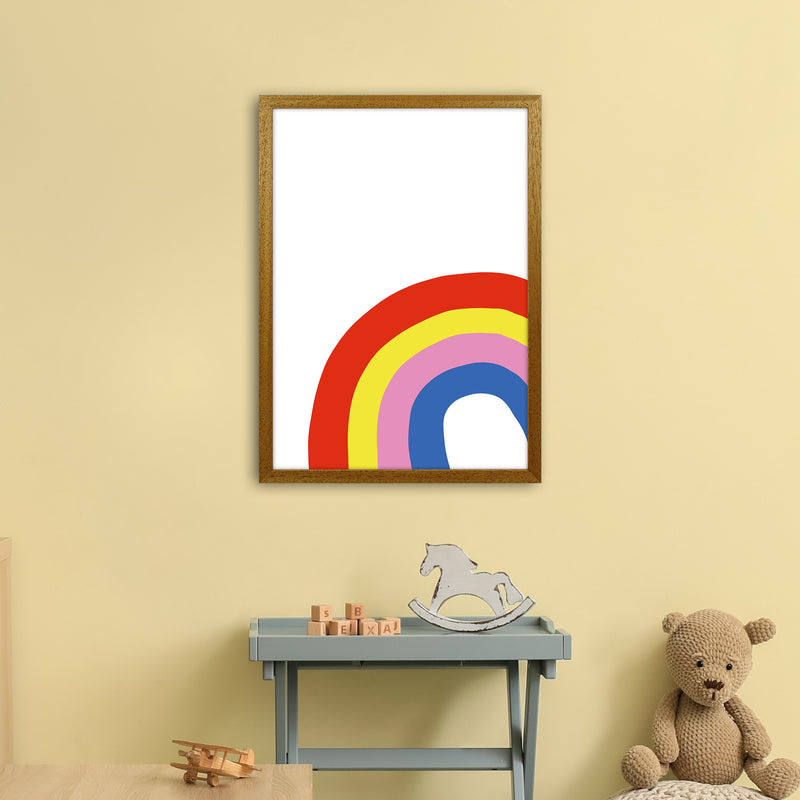Rainbow In Corner  Art Print by Pixy Paper A2 Print Only