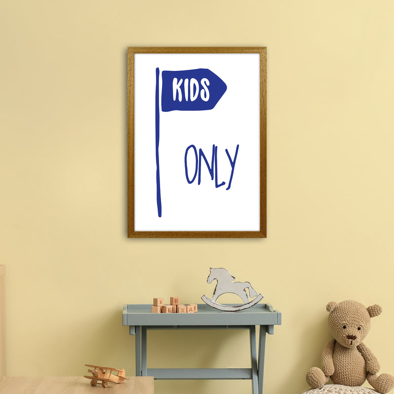 Kids Only Navy  Art Print by Pixy Paper A2 Print Only