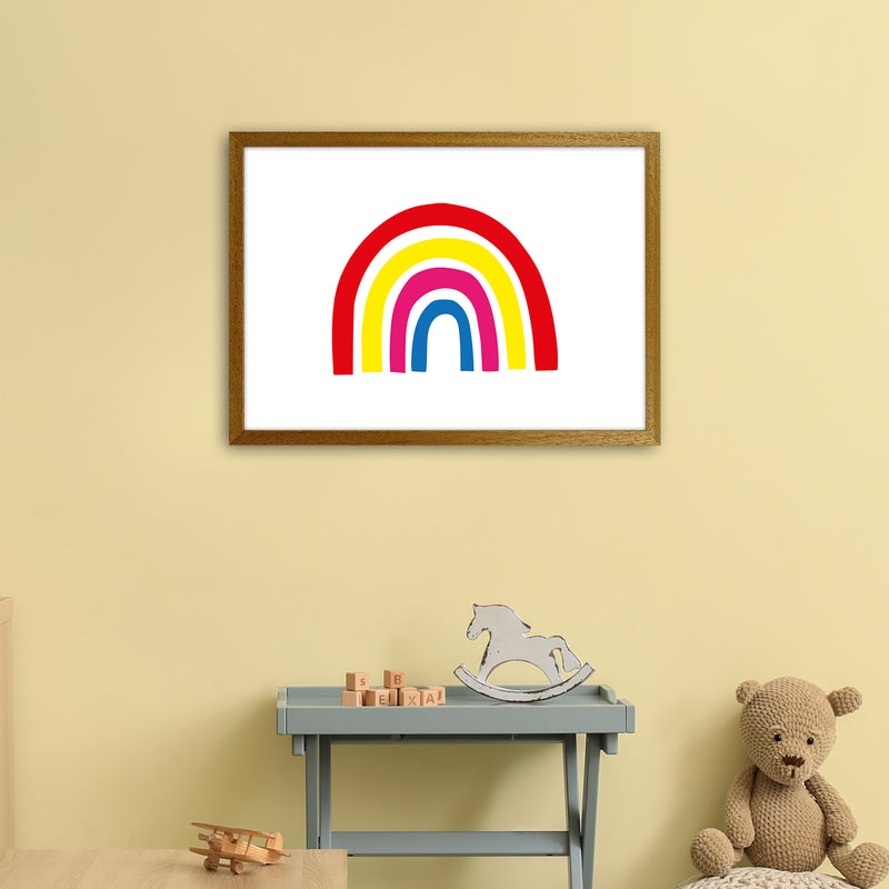 Rainbow Red  Art Print by Pixy Paper A2 Print Only