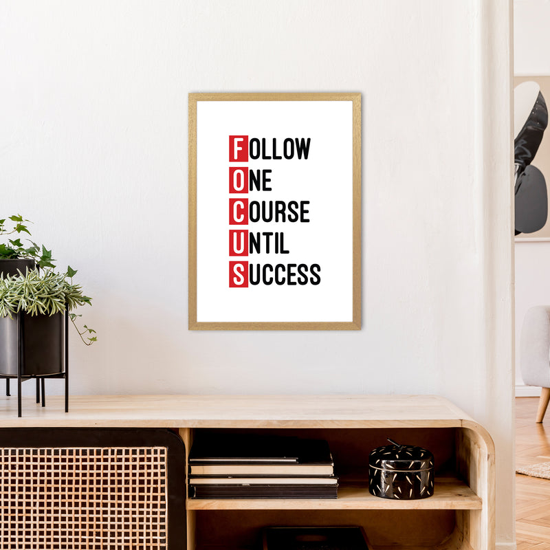 Focus Red  Art Print by Pixy Paper A2 Print Only