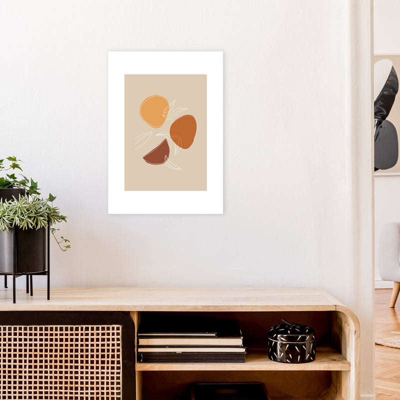 Mica Fruit N2  Art Print by Pixy Paper A2 Black Frame