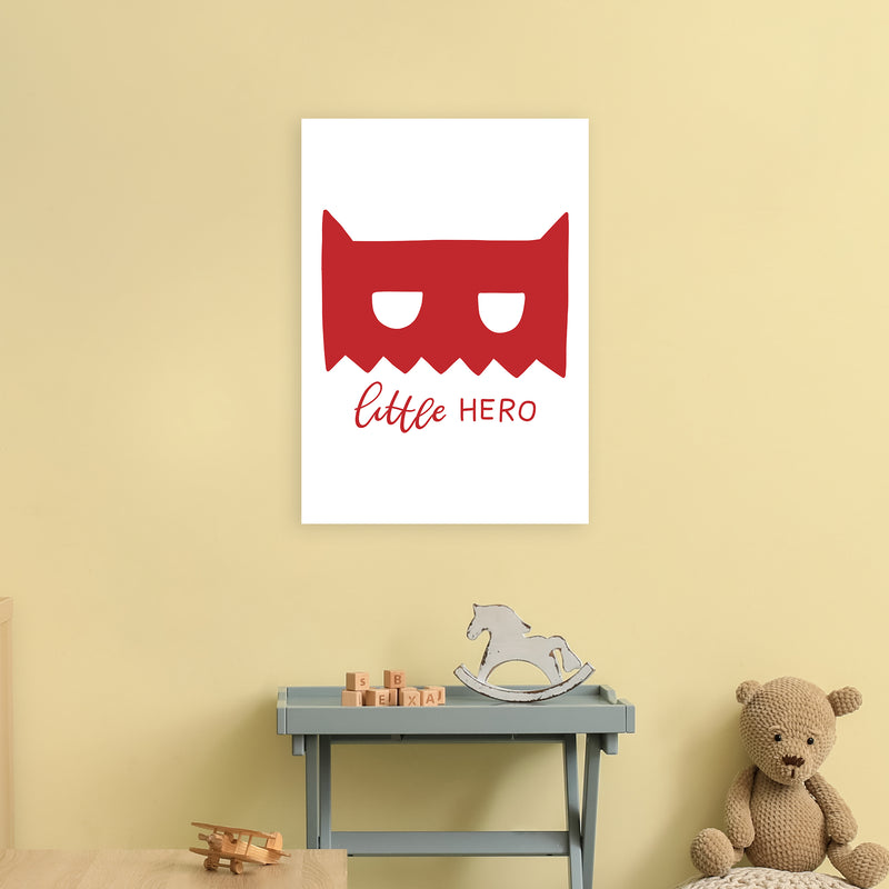 Little Hero Mask Red Super Scandi  Art Print by Pixy Paper A2 Black Frame