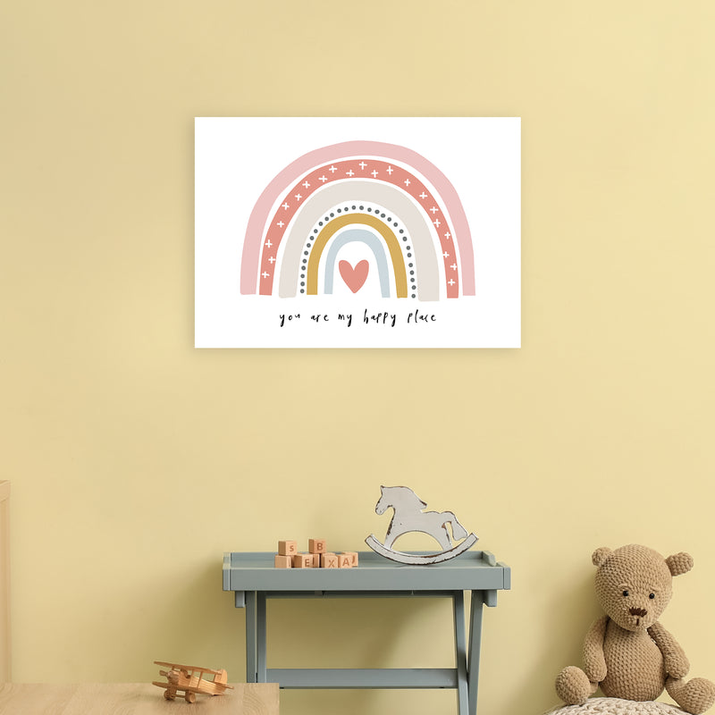 You Are My Happy Place Rainbow  Art Print by Pixy Paper A2 Black Frame