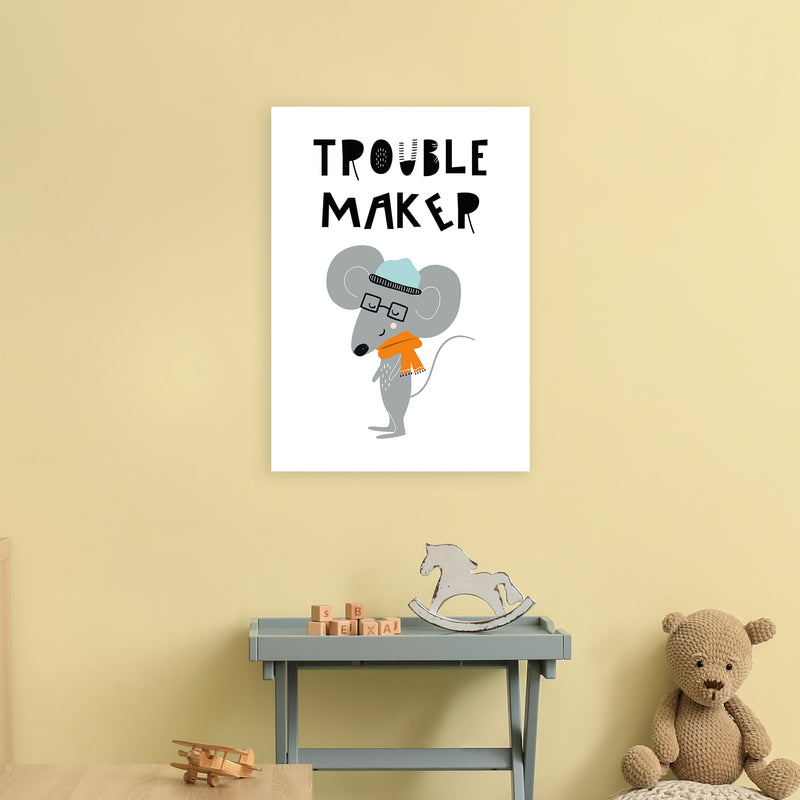 Trouble Maker Animal Pop  Art Print by Pixy Paper A2 Black Frame