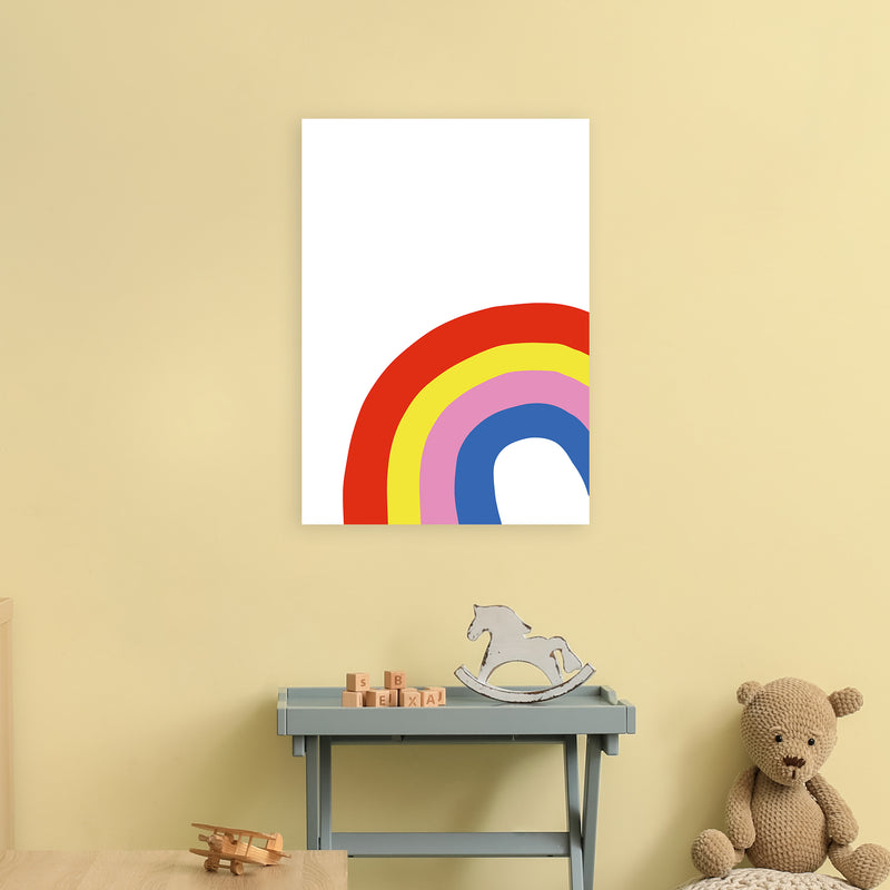 Rainbow In Corner  Art Print by Pixy Paper A2 Black Frame