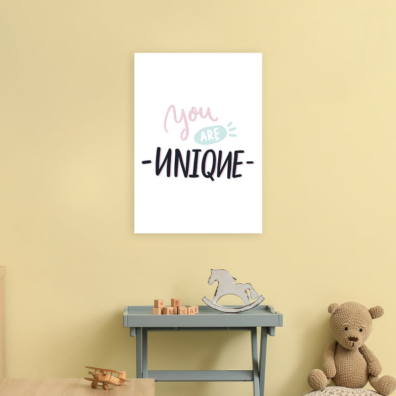 You Are Unique  Art Print by Pixy Paper A2 Black Frame