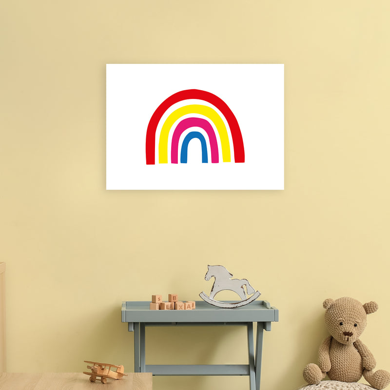 Rainbow Red  Art Print by Pixy Paper A2 Black Frame