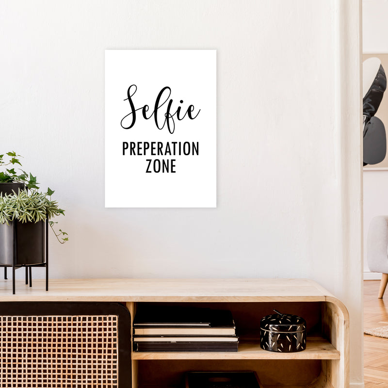 Selfie Preperation Zone  Art Print by Pixy Paper A2 Black Frame