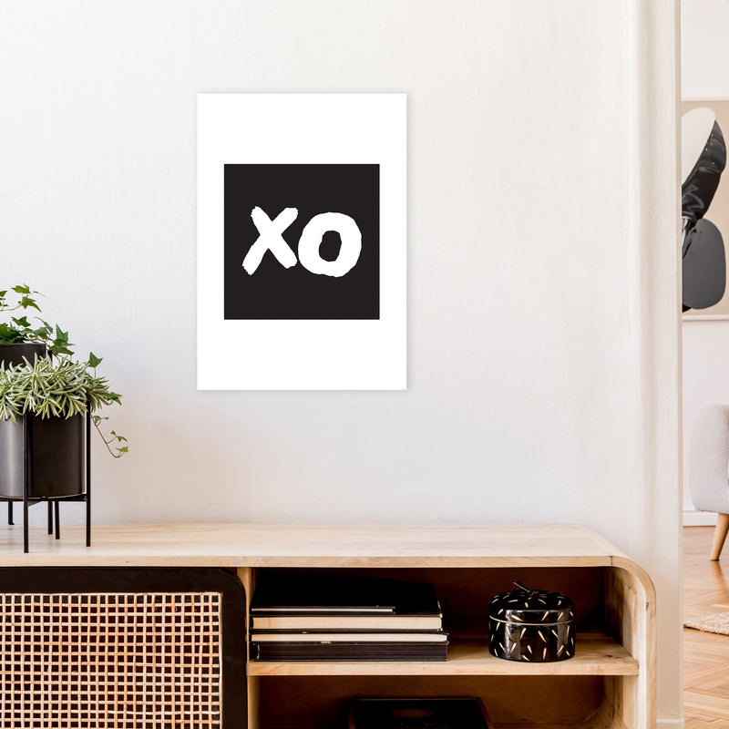 Xo Black Box  Art Print by Pixy Paper A2 Black Frame