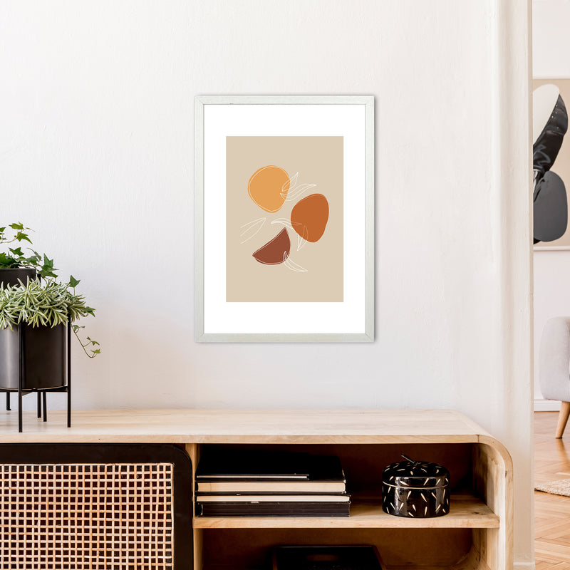 Mica Fruit N2  Art Print by Pixy Paper A2 Oak Frame