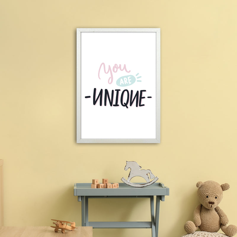 You Are Unique  Art Print by Pixy Paper A2 Oak Frame