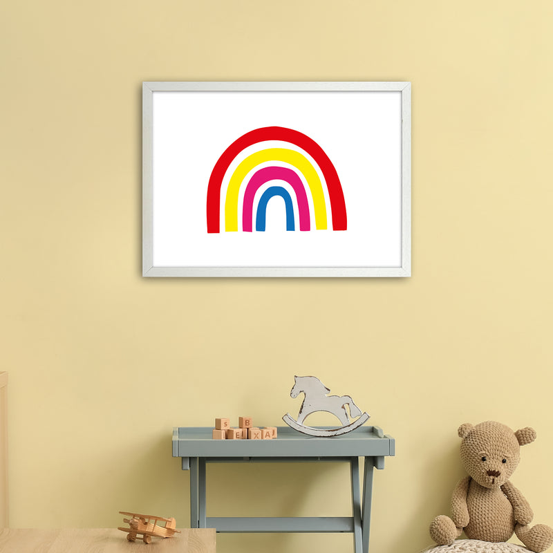 Rainbow Red  Art Print by Pixy Paper A2 Oak Frame