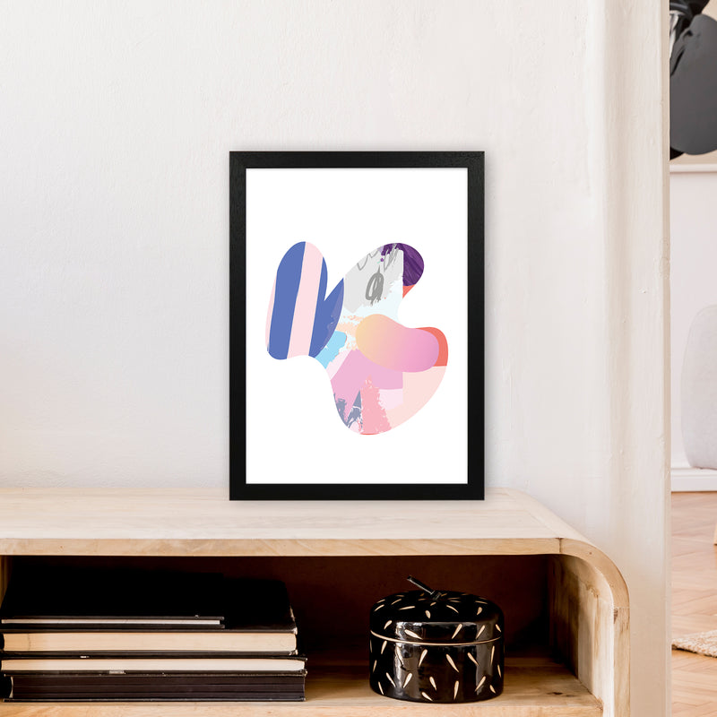 Pink Butterfly Abstract Shape  Art Print by Pixy Paper A3 White Frame