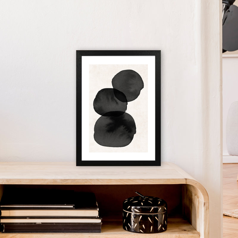 Nude And Pearl Stacked Stones  Art Print by Pixy Paper A3 White Frame