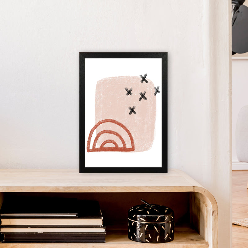 Dalia Chalk Red Rainbow  Art Print by Pixy Paper A3 White Frame