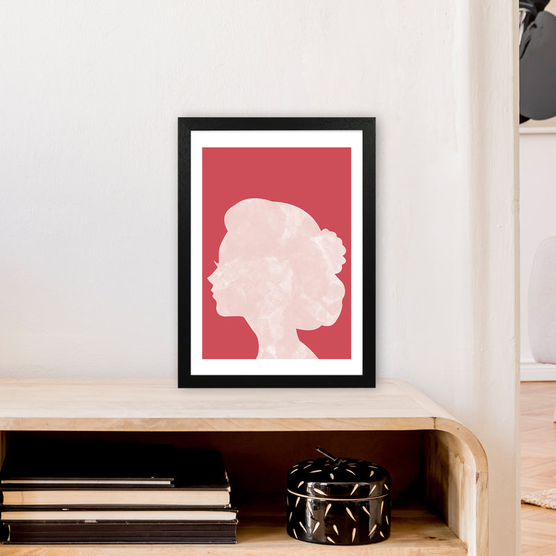 Marble Head Red  Art Print by Pixy Paper A3 White Frame