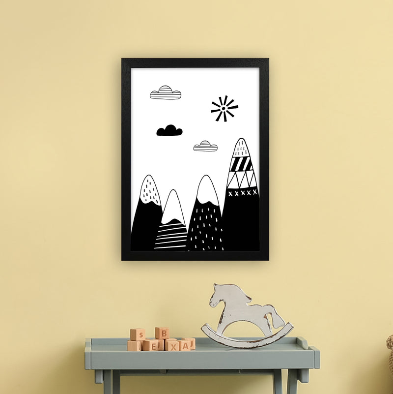 Scandinavian Mountains  Art Print by Pixy Paper A3 White Frame